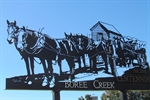 Boree Creek Clydesdale Cart Iron Sculpture