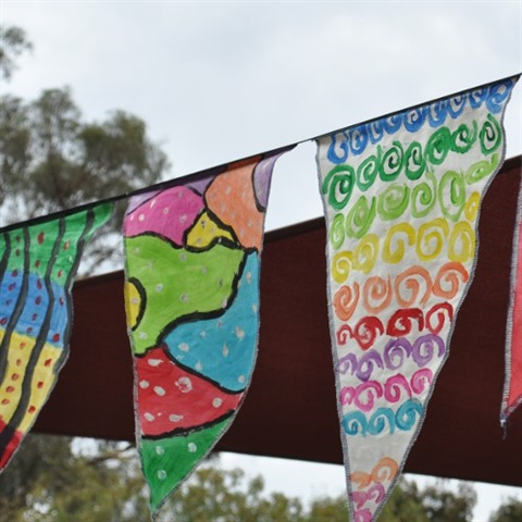 Corowa Festival flags