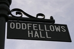 Oddfellows Hall sign